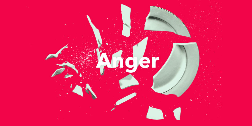 anger shattering plate